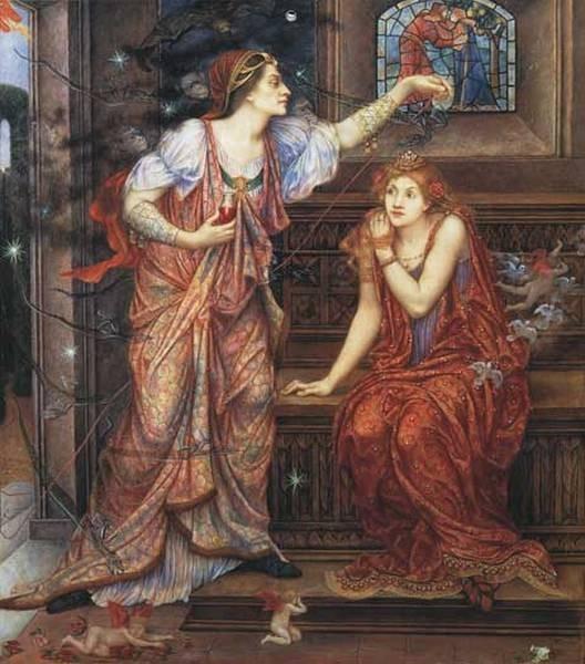 De Morgan Evelyn Queen Eleanor and Fair Rosamund
